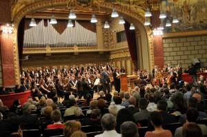 SCena Ateneului Roman, in timpul concertului. Foto: Florin Esanu