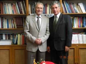 Cu Domnul Presedinte Emil Constantinescu.
