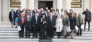 In fata Catedralei din Galati, cu IPS Dr. Casian al Dunarii de Jos