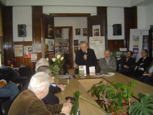 Irina Petras, Cseke PeTER, Vasile Dancu, Bogdan Hrib, Ilie Rad, la Filiala Cluj a Uniunii Scriitorilor, vineri, 21 februarie 2015.