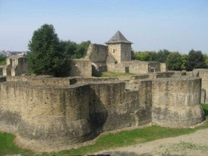 Cetatea de Scaun a Sucevei. Vedere de ansamblu