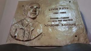 Proiectul unei placi memoriale LIviu Rusu, apartinad sculptorului Ioan Astalus.