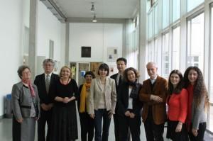 Participanti la colocviu, in holul Institutului de Romanistica din Viena
