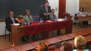 Profesorii Ioan Dersidan, Ilie Rad, Gheorghe Glodeanu, Oliviu Feleca si doctoranda Elena-Emilia Antal