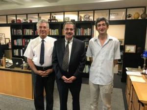 Cu Presedinteel SUNY Cortland si cu prof. Alexandru Balas