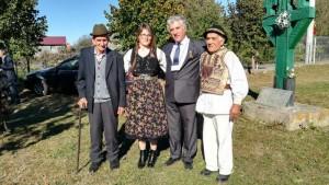 Cu stranepoata lui Aron Pumnul, Florina Pumnea, si cu domnul Vasile Strambu