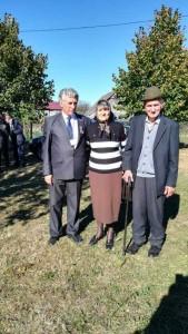 Cu cei doi nepoti de frate ai lui Aron Pumnul, Constantin Pumnea si Rozeta Pumnea
