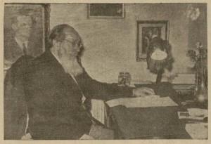 Una dintre ultimele fotografii, daca nu chiar ultima, in care apare Ion Agarbiceanu.