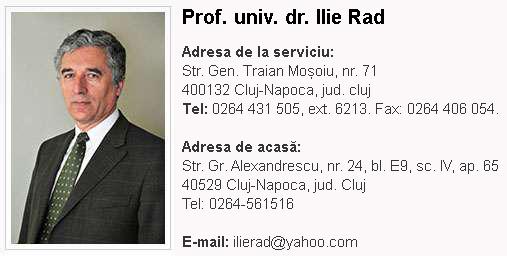 Ilie Rad - contact